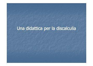 discalculia - Direzione Didattica Statale 2° Circolo Mira