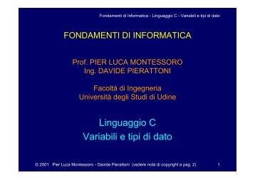 lucidi a colori - diegm - Università degli studi di Udine