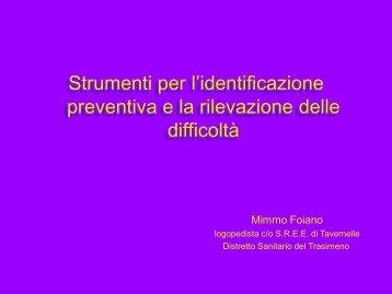 Strumenti per l'identificazione preventiva e la rilevazione delle ...