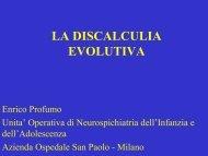 La discalculia evolutiva - Valderassociata.altranet.it