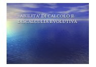 Discalculia evolutiva - I.C. Don Milani Latina