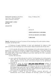 Adempimenti previsti per l'iscrizione al Libro genealogico del ... - Unire