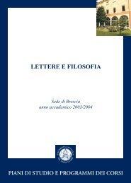 Guida dello studente a.a. 2003/2004 - Università Cattolica del Sacro ...