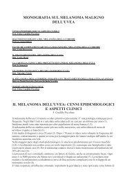 monografia sul melanoma maligno dell'uvea il ... - Occhioallaretina.it