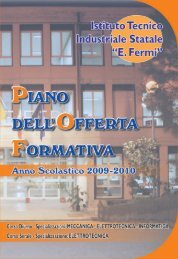 Piano dell'Offerta Formativa 2009 - Istituto Tecnico Industriale Fermi ...