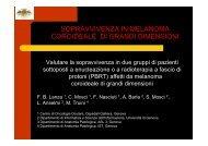 Sopravvivenza in melanoma caroideale di ... - Ospedale Galliera