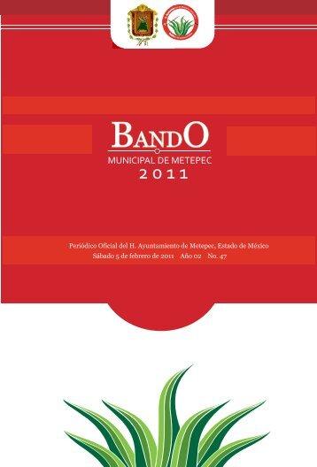 BANDO MUNICIPAL 2011