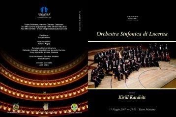 Orchestra Sinfonica di Lucerna - Tipografia Boccuto
