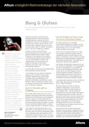 Bang & Olufsen - Altium