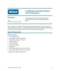 Livedesign Evaluation Board Test Procedures Guide - Altium