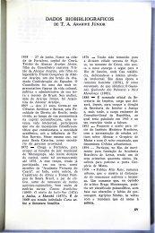 dados biobibliográficos de t. a. araripe júnior - Portal da História do ...