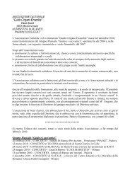 """""""Guido Cingano Ensemble"""" - Comune di Mirano"""