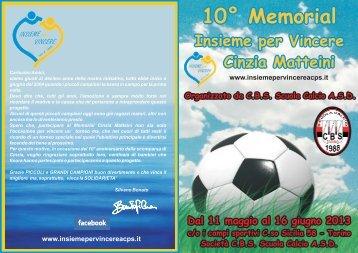 Pieghevole 10° Memorial Cinzia Matteini 2013 - ACPS Insieme per ...
