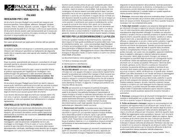 ITALIANO INDICAZIONI PER L'USO ... - Integra Miltex