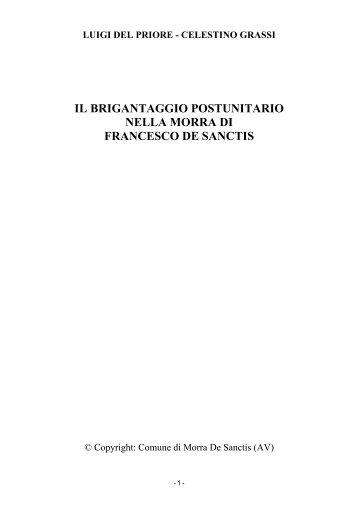il brigantaggio postunitario nella morra di francesco de sanctis