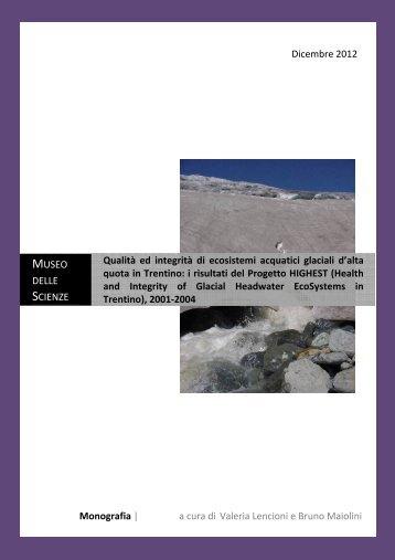 Progetto HIGHEST - Relazione Finale - Museo Tridentino di Scienze ...