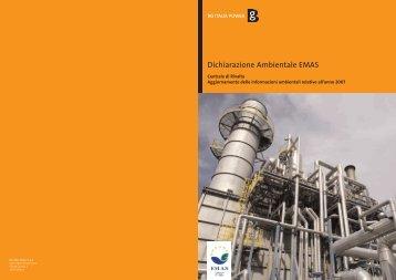 Download Dichiarazione Ambientale PDF - BG Group