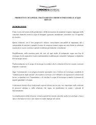 PRODOTTI E CICLI PER IL TRATTAMENTO CHIMICO FISICO ...