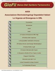 AOOI - LE URGENZE ED EMERGENZE IN ORL 18/06/2003 (Livello 2)