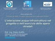 L'interazione acqua-infrastruttura nel progetto e nell'esercizio delle ...