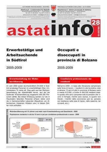 Erwerbstätige und Arbeitsuchende in Südtirol ... - Donne & Lavoro