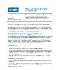 Moving to Altium Designer From Orcad