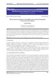 Mediterranean Journal of Social Sciences