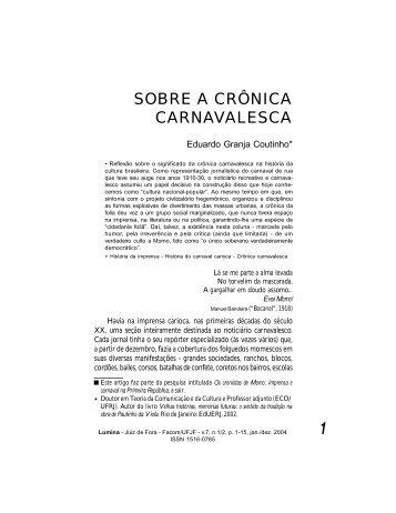 SOBRE A CRÔNICA CARNAVALESCA