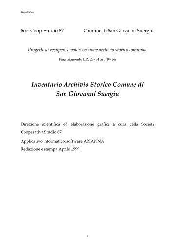 Inventario Conciliatura - Studio 87 Sant'Antioco Gestione Archivi