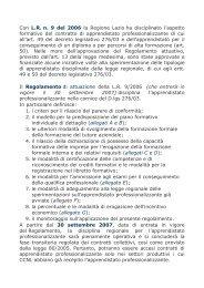 Con L.R. n. 9 del 2006 la Regione Lazio ha disciplinato l'aspetto ...