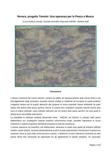 Il progetto Temolo: Una speranza per la Pesca a ... - Pescaamosca.Net