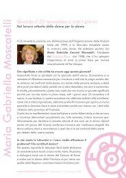 Maria Gabriella Carnieri Moscatelli - Volontariato Lazio