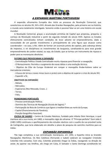 A Expansão Ibérica pelo Mundo - Cprepmauss.com.br