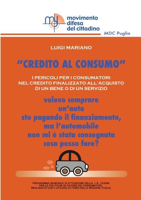Scarica la guida sul credito al consumo (PDF) - Movimento Difesa ...
