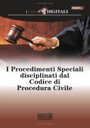 I Procedimenti Speciali disciplinati dal Codice di Procedura Civile