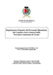 Regolamento Organico - Comune di Moena