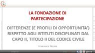 Fondazioni di partecipazione - Florian 2.pdf - Area Welfare di ...