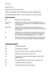 Tabella codici dei tipi di retribuzione - Studio Lasio