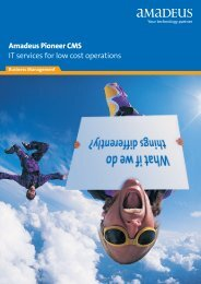 AmadeusPioneer CMS IT services for low cost operations