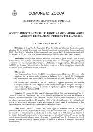 Imposta municipale propria (I.M.U. ... - Comune di Zocca