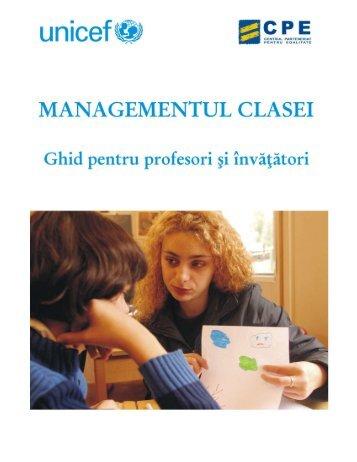 Ghid managementul clasei - Unicef