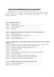 Nuovo regolamento per i procedimenti disciplinari - Comune di Lecce