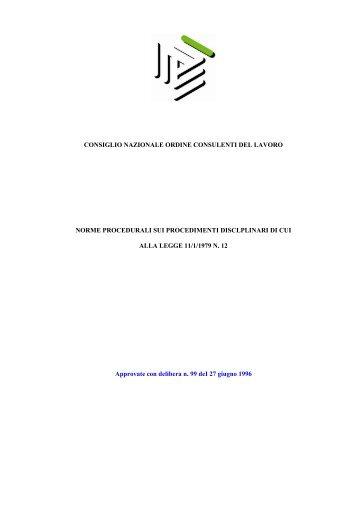 Regolamento Provvedimenti Disciplinari - Consulenti del Lavoro