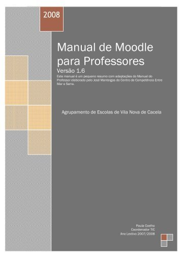 Manual de Moodle Professores - Moodle - Educom