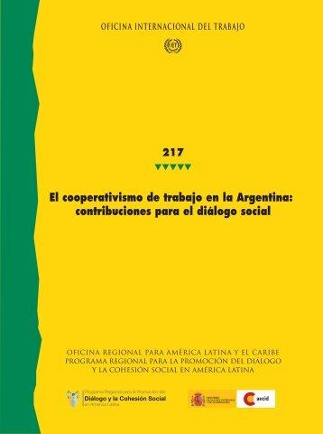 El cooperativismo de trabajo en la Argentina - OIT en América ...