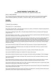 Decreto legislativo 3 aprile 2006 n. 152 - Studio Tecnico Faralli
