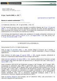 D.Lgs. 3 aprile 2006, n. 152 (1). - Autorità di bacino del fiume Adige