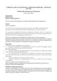 Didattica della Matematica per l'Integrazione Prof