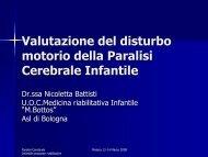 Valutazione del disturbo motorio della Paralisi Cerebrale Infantile