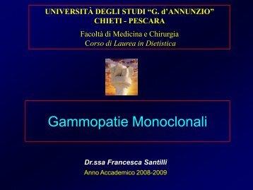 Gammopatie Monoclonali - Facolta' di Medicina e Chirurgia - Chieti